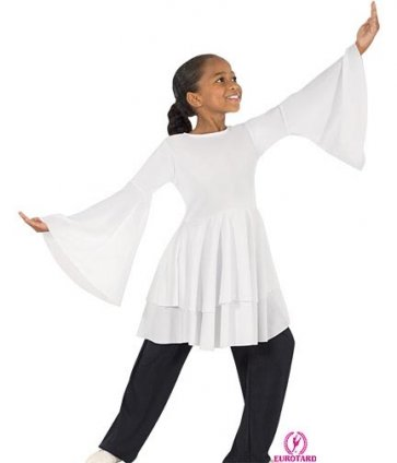 Children's Peplum Worship Dance Top