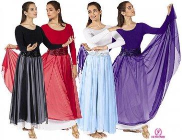 Chiffon Overlay Skirt