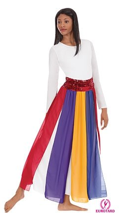 Multi Color -STREAMER SKIRT/TOP