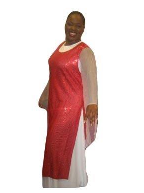 Sequin Liturgical Praise Dance Tunic