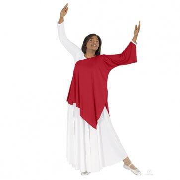 Red Asymmetrical Worship Tunic