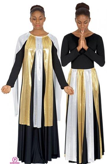 Metallic Praise Dance Streamer Skirt/Top