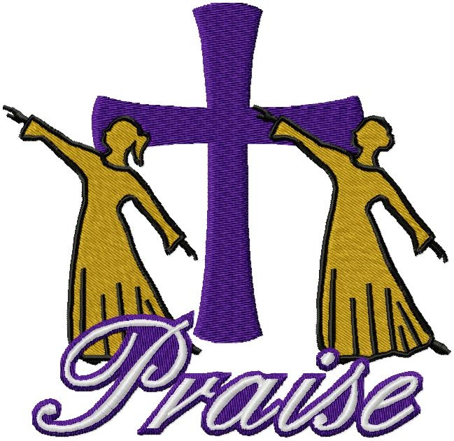Praise Dance Rhinestone Embroidery Designs